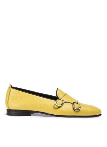 Deery Hakiki Deri  Ayakkabı Sarı